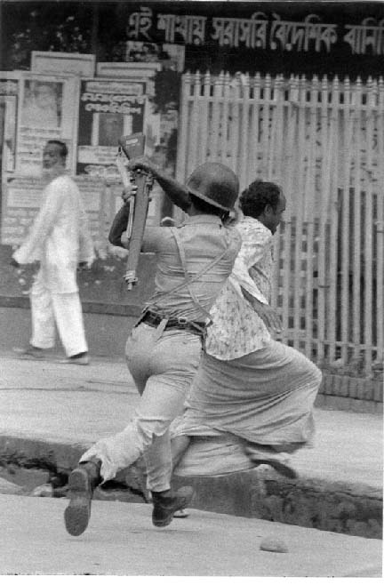 a Pakistani Soldier Beating up
